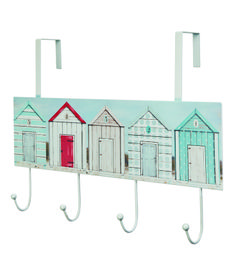 Beach Hut Hanging Hooks  #coastal #decor