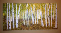 Early Aspen fall. By yasminHasnain, in acrylic,30x40 stretched canvas.