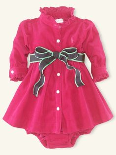 Corduroy Shirtdress - Layette Dresses & Rompers - RalphLauren.com