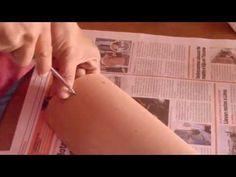 ▶ Teja Decorada - Paso 1: Preparación de la Teja - YouTube