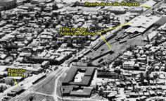 Redescubriendo a Puerto Rico: Vista Aérea de los Talleres de la American Railroad. Interesante foto capturada a finales de la decada de 1940.