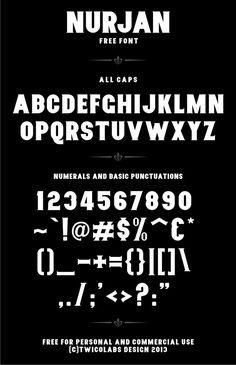 Free Font Nurjan