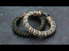4 Strand Round Braid Knot and Loop Paracord Bracelet Tutorial Diy Bracelets Video, Bracelet Knots, Bracelet Crafts, Braided Bracelets, Bracelet Making, Paracord Belt, Paracord Braids, Paracord Bracelets, Macrame Bracelets