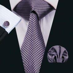 Purple Silk Necktie Set LBW1553