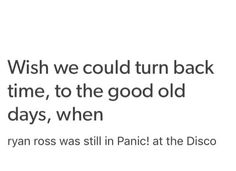 And MCR was still together