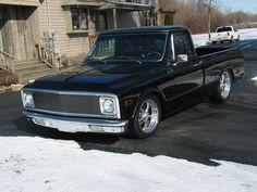 Jaxon's '72 chevy truck he restored