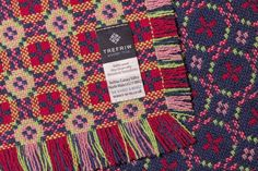 Welsh tapestry throw - carded, spun and woven at Trefriw Woollen Mills, Snowdonia Welsh Blanket, Wool Blanket, Textile Patterns, Blanket Patterns, Textiles, Celtic Green, Dark Red Background, Willow Pattern, Tapestry Weaving