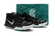 0b5207ea85b6 New Arrival Cheap Kyrie Irving Shoes 3 2017 Black Ice Voltage Green Silver