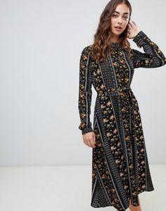 b69a34b2b64650 Vero Moda Mix and Match Print Midi Dress Floral Midi Dress