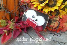 "Craft Goodies: Spider Block Head...CUTE seasonal ""block heads""!"