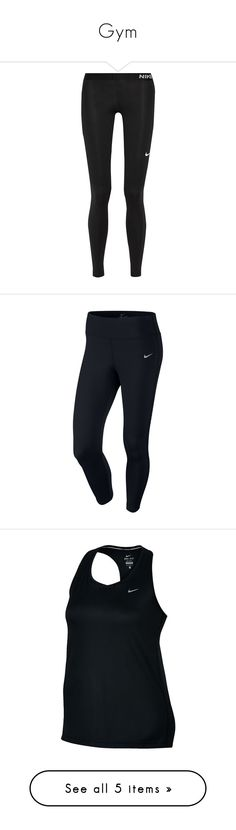 """Gym"" by lilygostovic ❤ liked on Polyvore featuring shoes, sneakers, nike, black, nero, logo shoes, black trainers, nike sneakers, black sneakers and black shoes"