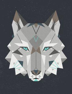 Geometric Wolf Geometric wolf .