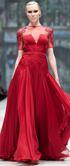 Pavoni - fall 2012 - red dress