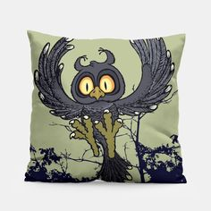 Hoo Hoo!! Pillow Crazy Home, Unique Image, Pillow Design, Make It Yourself, Pillows, Live, Prints, Cushions, Pillow Forms