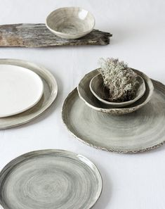 Handmade ceramic plates, from Amsterdam:Made by Hand by Pia Jane Bijkerk.