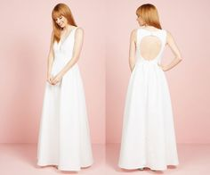 Keyhole back wedding dress by Modcloth