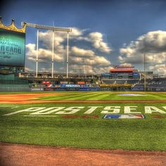 Kauffman Stadium, the Postseason looks so good on you. Kc Royals Baseball, Kansas City Royals, Dental Fun Facts, Basketball Court Layout, Kauffman Stadium, Vacation Spots, St Louis, Summer Fun