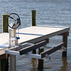 Boat Lift Warehouse carries replacement parts for this boat lift and more. Jet Ski Dock, Jet Ski Lift, Floating Boat Docks, Floating House, Storage Building Plans, Pedal Boat, Easy Jet, Water House, Boat House