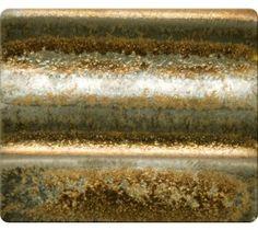 (sparkly gold cone 6 glaze) Spectrum Cone 4/6 Glazes - Metallic Gold Rain - 1114 l Big Ceramic Store