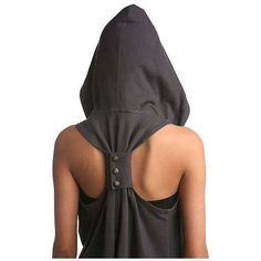 This was the Silence and Noise Later Days Racerback Hoodie from Urban Outfitters. Unfortunately, they don't sell it anymore. I do think it'd be pretty simple to make out of a regular hoodie though! I really want this