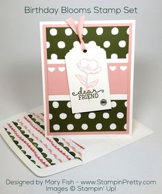Card Making Inspiration, Making Ideas, Mary Fish, Stampin Pretty, Birthday Bouquet, Pretty Cards, Homemade Cards, Stampin Up Cards, Birthday Cards