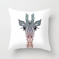 GiRAFFE+Throw+Pillow+by+Monika+Strigel+-+$20.00