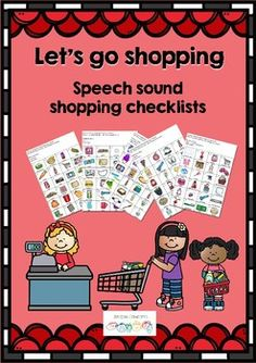 Lets go shopping helps structure homework for Articulation. I always try to find ways to fit articulation practice into the family's routines. Shopping is a routine that every family participates in. Children are sometimes captured in the shopping trolley and are face to face with their parent - the perfect place for practice.The resource contains shopping lists for h, b, p, m, t, d, k, g, f, s, sh, l, ch, dz, l blends, s blends and r blends.The pages contain words with the sounds in…
