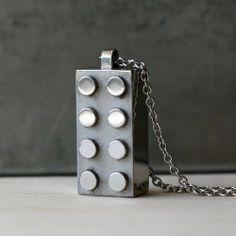 Handmade Gifts | Independent Design | Vintage Goods Steel Retro Block Necklace