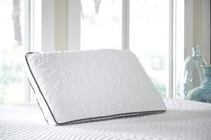 White Ashley Pillow Dual Side Queen Pillow by Ashley Furniture