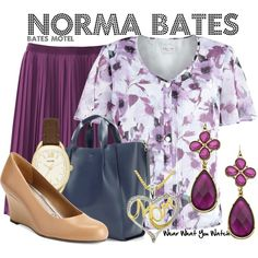 Inspired by Vera Farmiga as Norma Bates on Bates Motel.