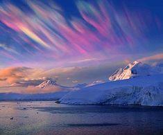 Nacreous Clouds - known as Polar stratospheric clouds (PSCs), formed in the winter polar stratosphere.