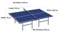Table tennis table dimensions - perfect outdoor dining size!