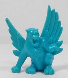 Monster In My Pocket - Series 1 - 40 Winged Panther - Neon Blue - Cyan - Premium Monster S, My Pocket, Classic Toys, Mythical Creatures, Smurfs, Wings, Neon, Fictional Characters, Vintage