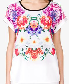 Boxy Floral Print Top | FOREVER21 - 2035234321