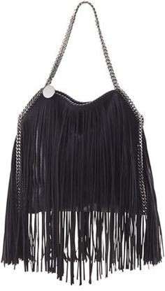 Stella McCartney Falabella Small Fringe Tote, Black