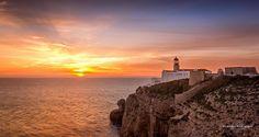 The Southwesterner #portugal #sagres #lighthouse #farol #sunset #pordosol #atlanticocean #west #europe #cliff #sea #ocean #photosergereview