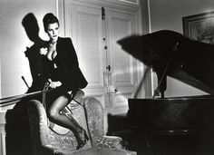 Photographer : Helmut Newton - Vogue Hommes 1976 - Horse/Cheval  www.pegasebuzz.com/leblog