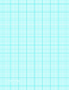 This letter-sized graph paper has eight aqua blue lines every inch plus heavy index lines every inch. Free to download and print