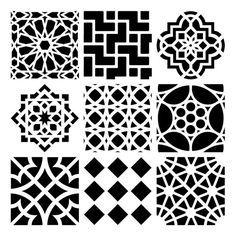 Azulejos marroquíes Stencil 6 x 6                                                                                                                                                                                 Más