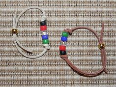 """Salvation Bracelets (tutorial). I love that they actually used actual Gold beads as opposed to yellow in this tutorial. Instead of clear beads, however, I would use white which is commonly used to make these bracelets, representing being cleansed """"whiter than snow."""""""