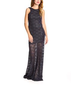 Another great find on #zulily! Black & Purple Social Lace Gown #zulilyfinds