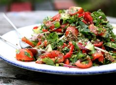 Fattoush Salad with Za'atar from My New Roots. So healthy and absolutely delicious.