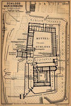Plan of Marienburg castle, Germany