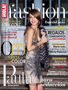 la portada de ¡HOLA! Fashion (Diciembre 2012) con Paula Echevarría  vestida por Rosa Clará