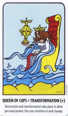 Queen of Cups from the Tell Me Tarot