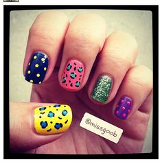 I'm not a huge fan of mismatched nails but I like these! <3