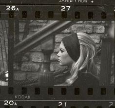 Brigitte Bardot on the set of Godard's Le Mepris (1963).