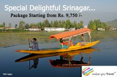 Travel to Srinagar for a holiday in Paradise..Special Delightful #Srinagar_Package Starting from Rs. 9,750/- | Click Here: http://www.makeyoutravel.com/kashmir-kashmir-4nights-5days-2stars-29.aspx