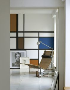 piet mondrian inspired wall treatment
