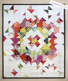 Supernova Quilt | Flickr - Photo Sharing!  This could easliy be cut with #AccuQuilt dies.
